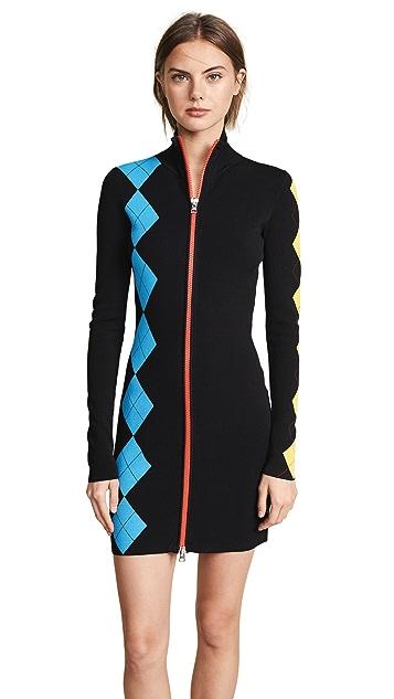 Diane von Furstenberg Mock Neck Mini Dress