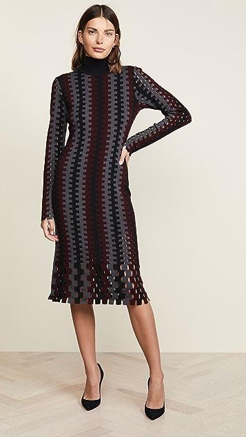 Diane von Furstenberg Turtleneck Midi Dress