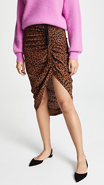 68bed70066 Diane von Furstenberg Ruched Side Slit Skirt | SHOPBOP