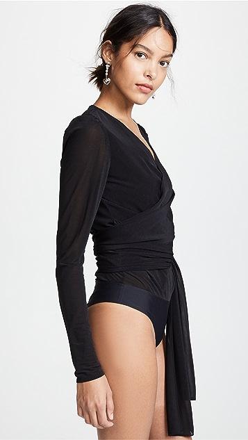 Diane von Furstenberg Wrap Bodysuit