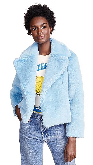 Diane von Furstenberg Fluffy Faux Fur Coat
