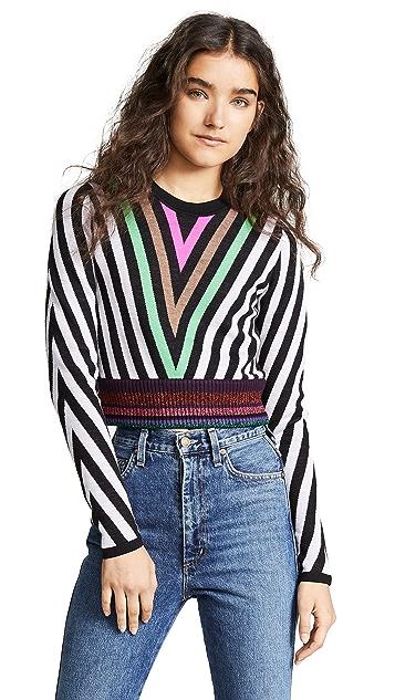Diane von Furstenberg Chevron Sweater