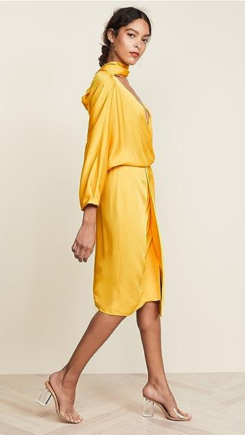 Diane von Furstenberg Платье-халат с перекрученным элементом спереди
