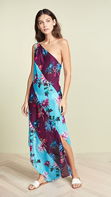 Diane von Furstenberg One Shoulder Beach Dress