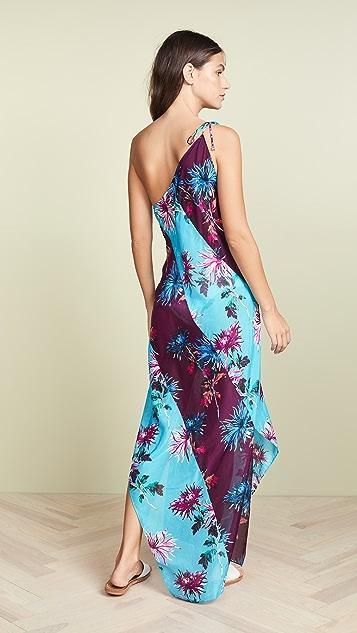 Diane von Furstenberg One Shoulder Beach Dress