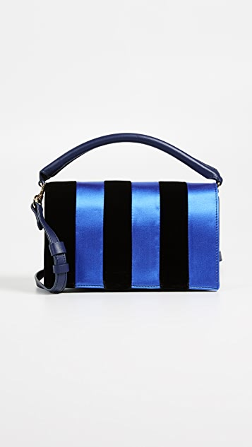 Diane von Furstenberg Bonne Soiree Velvet Shoulder Bag