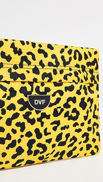 Diane von Furstenberg Nylon Flat Zip Pouch