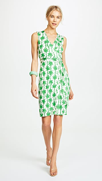 Diane von Furstenberg Sleeveless Yahzi Wrap Dress
