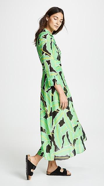 Diane von Furstenberg Floor Length Wrap Dress