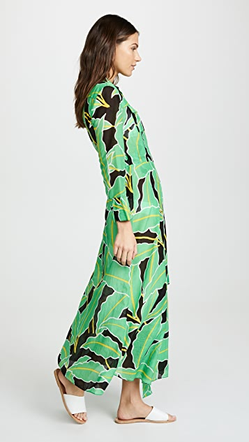 Diane von Furstenberg Floor Length Wrap Dress