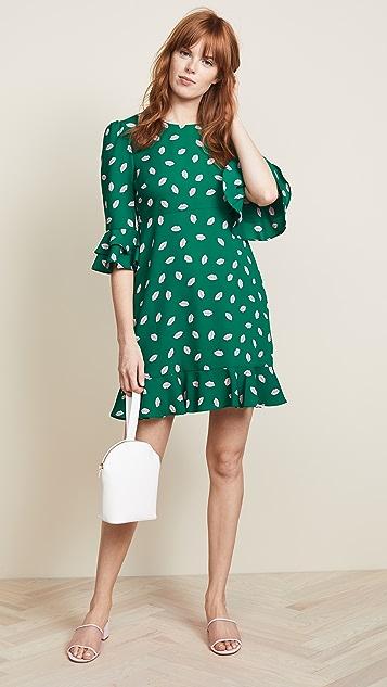 Diane von Furstenberg Ruffle Cuff Dress