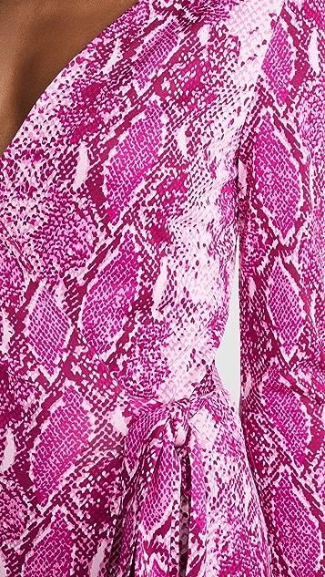 Diane von Furstenberg Julian 长袖裹身裙