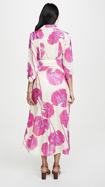 Diane von Furstenberg 及地有领连衣裙