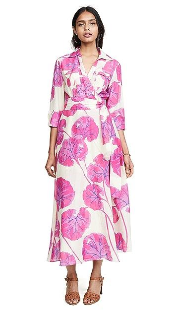 Diane von Furstenberg Платье до пола с воротником