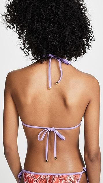 Diane von Furstenberg Moss Bikini Top