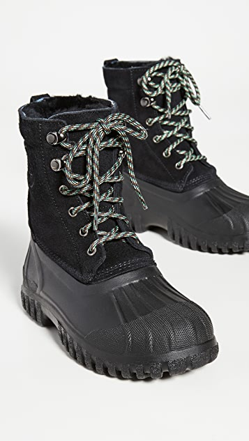 Diemme Anatra Lace Up Shearling Boots