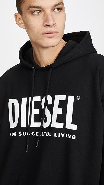 Diesel Long Sleeve S-DIVISION Hooded Sweatshirt