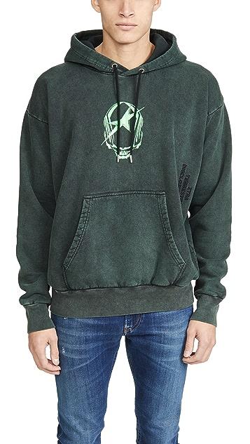 Diesel Long Sleeve S-ALBY-ACID Hooded Sweatshirt