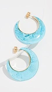 Dinosaur Designs Marbled and Metal Medium Hoop Earrings