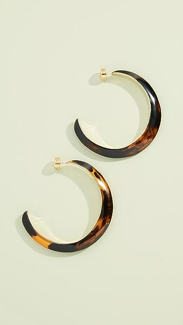 Dinosaur Designs Stone and Metal Large Hoop Earrings