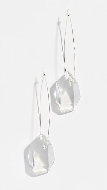 Dinosaur Designs Medium Crystallized Earrings - Clear