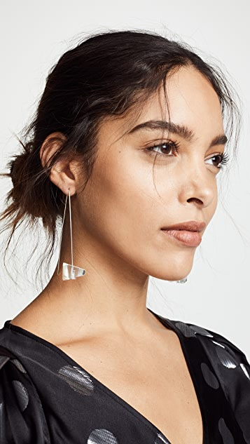 Dinosaur Designs Crystallized Long Drop Earrings