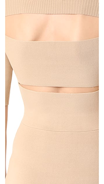 Dion Lee Rib Knit Pencil Dress