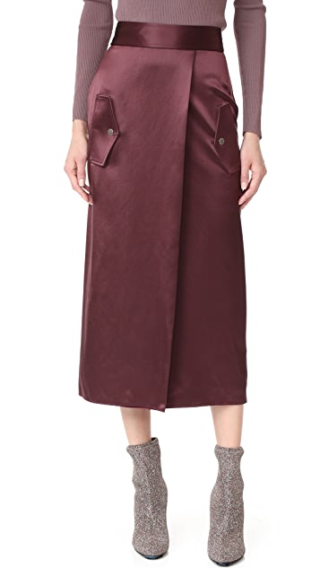 Dion Lee Utility Silk Skirt
