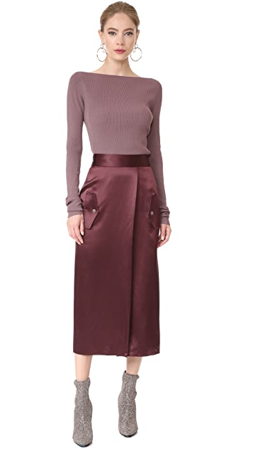 Dion Lee Utility Silk Skirt