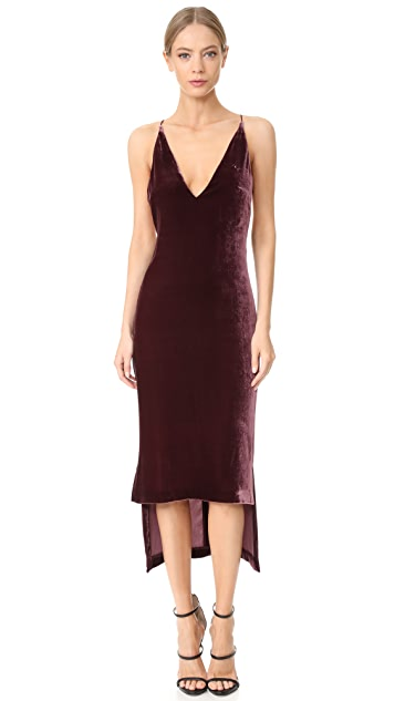 Dion Lee Silk Velvet Cami Dress
