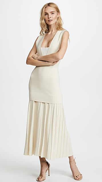Dion Lee Mirror V Pleated Dress