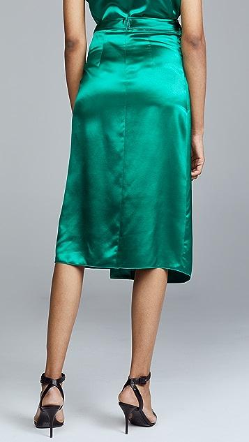 Dion Lee Silk Satin Tie Skirt