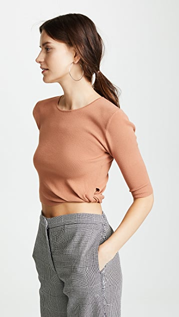Dion Lee Twist Body Tee - Clay