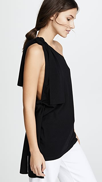 Dion Lee Falling Tie Knit Top