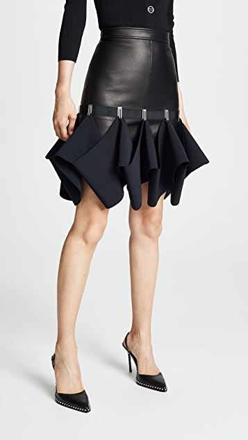 Dion Lee Leather Hook Miniskirt