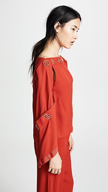 Dion Lee Spiral Sleeve Top