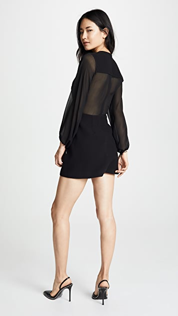 Dion Lee Sheer Solid Lacing Dress
