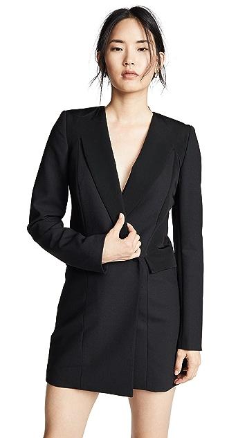 Dion Lee Tuxedo Coat Dress