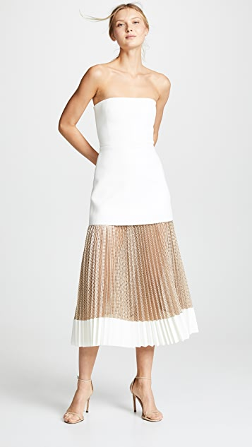Dion Lee Net Pleat Strapless Dress
