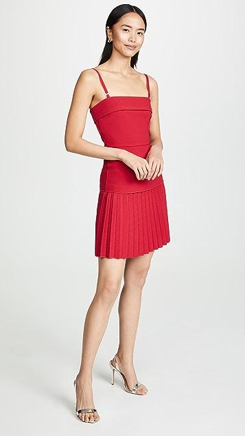 Dion Lee Linear Pleat Mini Dress