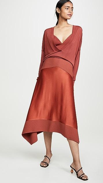 Dion Lee Satin Transfer Skirt