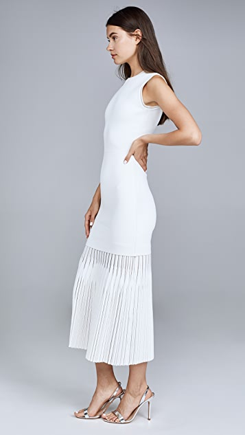 Dion Lee Godet Pleat Dress