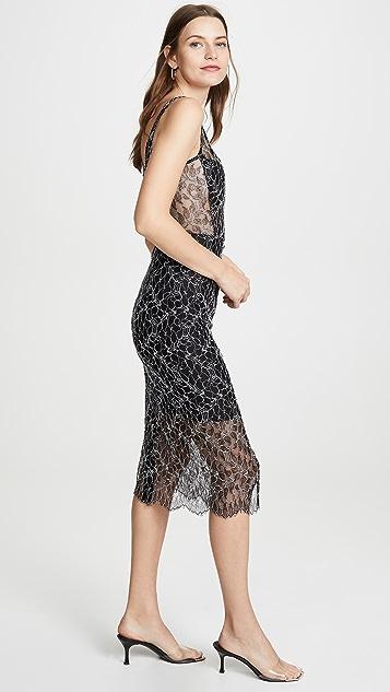 Dion Lee Кружевное платье Vein с корсетом