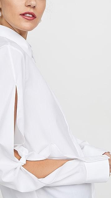 Dion Lee Рубашка с узлом Hinge