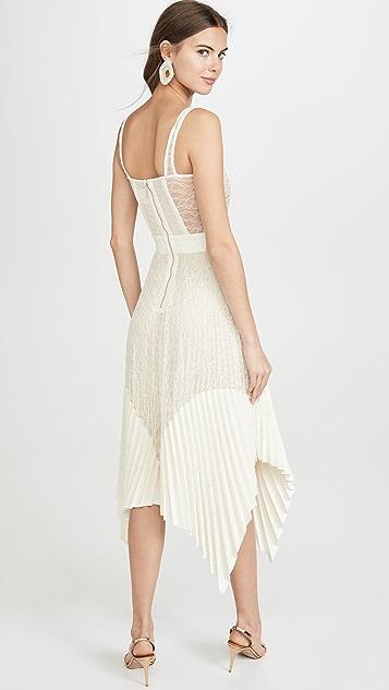 Dion Lee Кружевное плиссированное платье с корсетом Vein