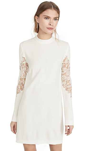 Dion Lee Lace Applique Mini Long Sleeve Dress