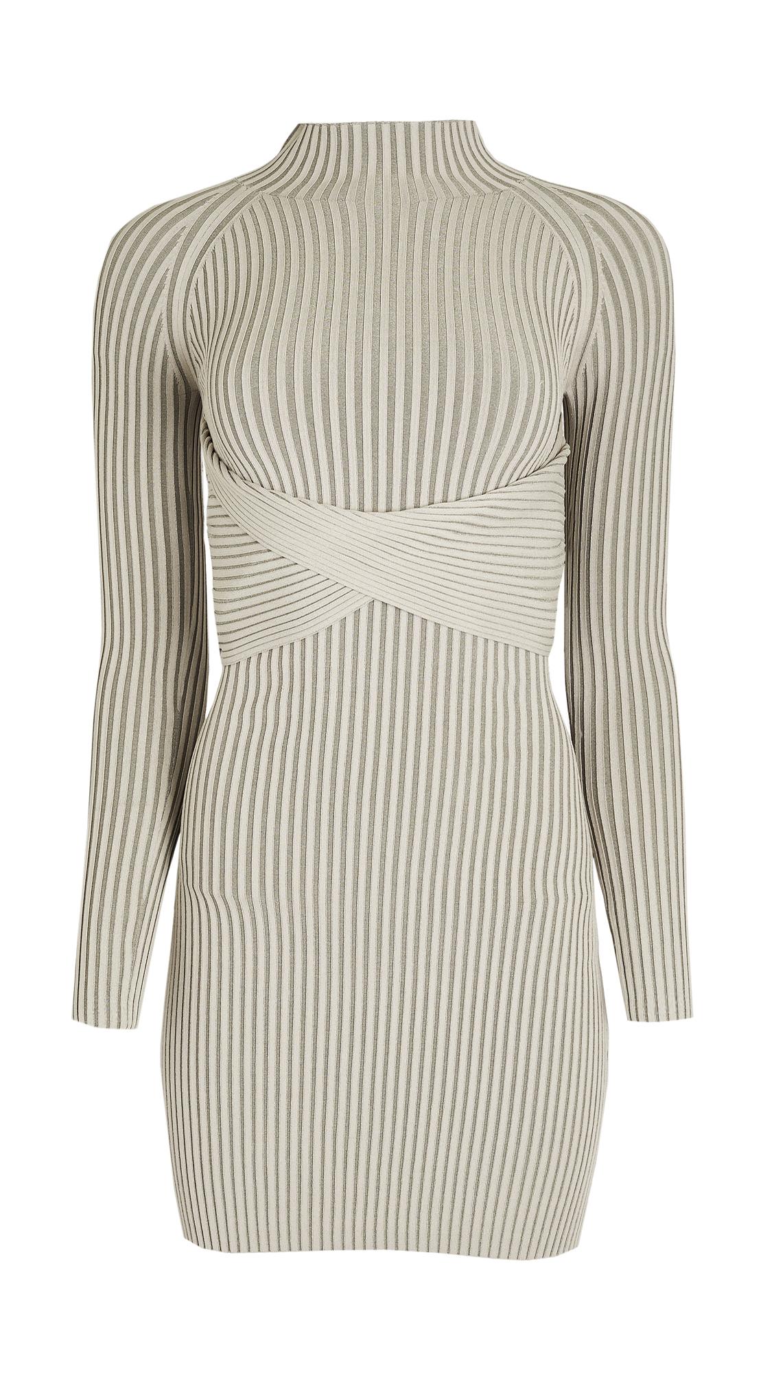 Dion Lee Stripe Rib Twist Mini Dress