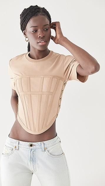 Dion Lee 平纹针织束身 T 恤
