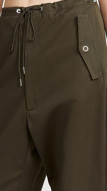 Dion Lee Eyelet Tie Parachute Pants