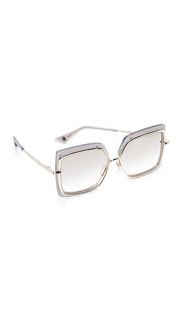DITA Narcissus Sunglasses - Satin Crystal Grey/Milky Gold